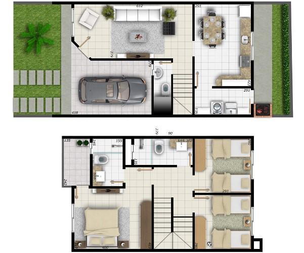 Planta de casas 2 pisos mundodastribos todas as tribos for Pisos de inmobiliarias