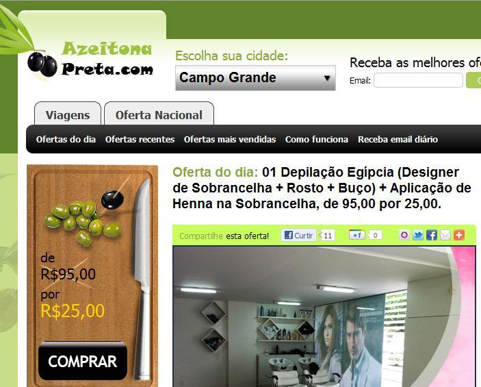 Azeitona Preta é um dos sites de compra coletiva (Foto: Divulgação)