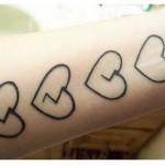 398821 coração no pulso 5 150x150 Tatuagens no pulso: fotos
