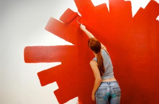Casa de arte adolescente sobre