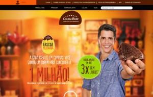 Site Cacau Show: www.cacaushow.com.br