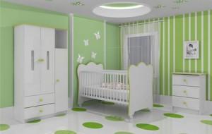 Quarto de Bebê Decorado Verde