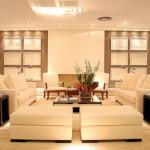 418141 sala bege simetrica 150x150 Fotos de iluminação para sala