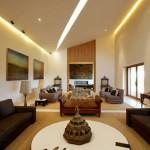 418141 sala com teto de gesso 150x150 Fotos de iluminação para sala