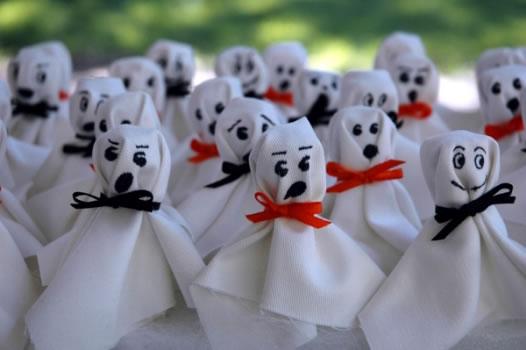 decoracao festa zumbi:Detalhes são importantes para criar um clima de medo (Foto