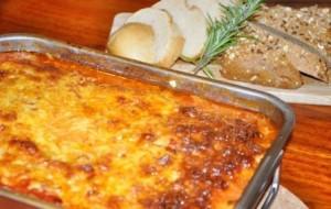 Lasanha de abobrinha e queijo