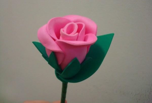 Rosa confeccionada ...