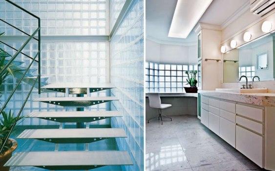 Tijolos de vidro na decoração formas de usar, fotos  MundodasTribos – Todas -> Decoracao De Banheiro Com Tijolos De Vidro