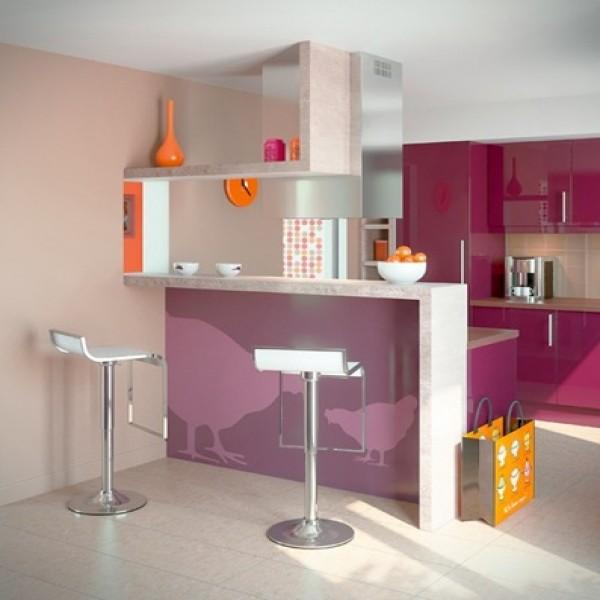 Cozinhas pequenas decoradas fotos mundodastribos for Salas en l pequenas