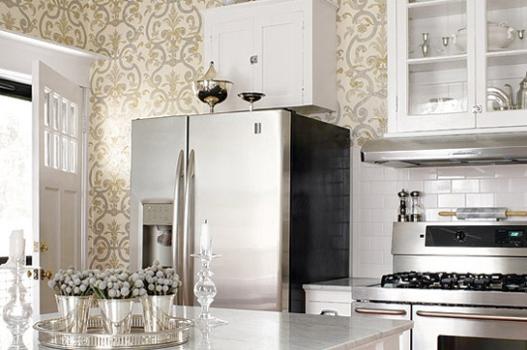 cozinha ganhou um ar mais clássico e sofisticado com o papel de