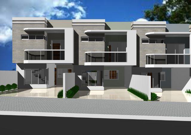 Planta de sobrados pequenos com 2 3 4 quartos for Casas modernas de 70m2