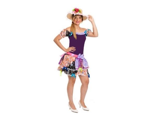 Vestido de festa junina infantil 25 de marco