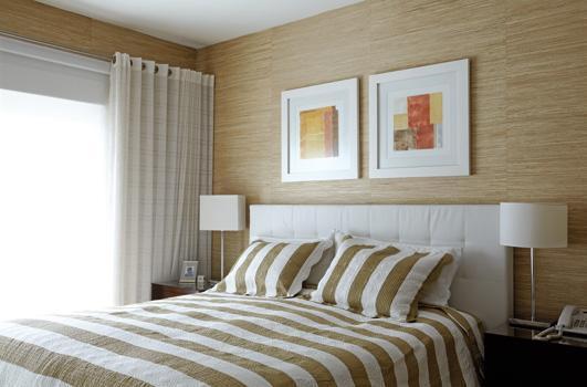 decoracao interiores porto alegre:Cabeceira estofada – confortável e aconchegante.