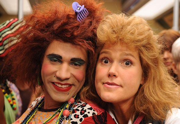 Rodrigo Sant'Anna, como Valéria e Xuxa, como Janete. (Foto: divulgação)