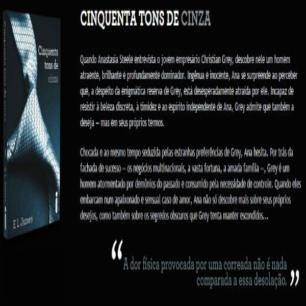 Cinquenta Tons de Cinza - Trilogia