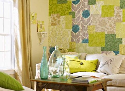 465541 Patchwork de papel para parede como fazer Patchwork de papel na parede: como fazer