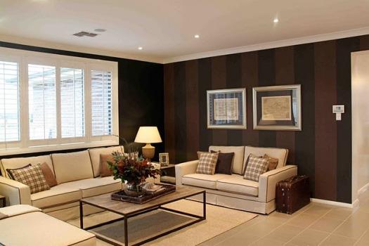 Decora o de sala com parede marrom dicas fotos - Tom interiores ...