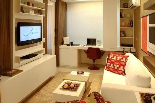 fotos decoracao salas ambientes pequenos : fotos decoracao salas ambientes pequenos:Decoração de kitnet: dicas, fotos