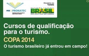 Pronateccopa.turismo.gov.br cursos gratuitos Copa 2014