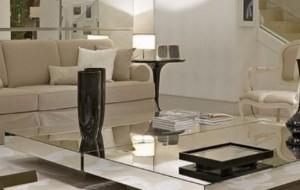 Mesa de centro espelhada modelos, preços