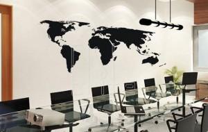 Adesivo de parede para escritório: dicas, sugestões