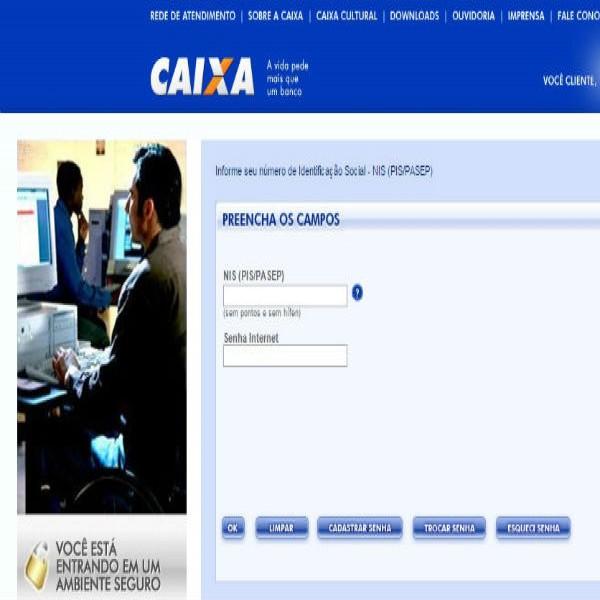 Cadastrar PIS Via Internet - Cadastro PIS/PASEP da Caixa