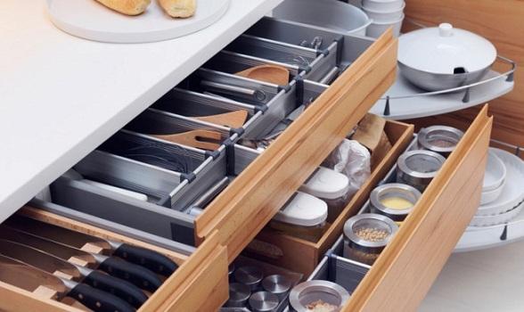 Organizador Armario Baño:Divisórias modernas para gavetas de armários planejados (Foto