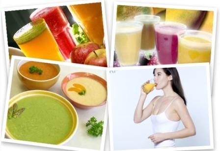 496650 A dieta liquida ajuda a eliminar toxinas presentes no organismo e auxilia no emagrecimento Dieta líquida, cardápio