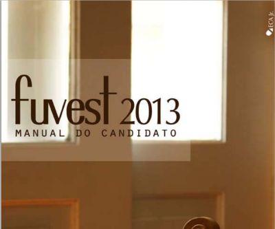 manual do candidato fuvest vestibular 2013 rh mundodastribos com Fuvest 2015 Inscricao Fuvest
