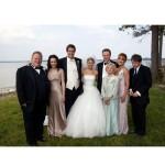 499709 Jenny Alden usou um belíssimo modelo com saia de tule em Penetras Bons de Bico. 150x150 Vestidos de noiva dos filmes: fotos