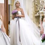 499709 Kate Hudson arrasou com um modelo Vera Wang. 150x150 Vestidos de noiva dos filmes: fotos