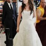 499709 Leighton Meester usou um Vera Wang para interpretar a personagem Blair Waldorf. 150x150 Vestidos de noiva dos filmes: fotos