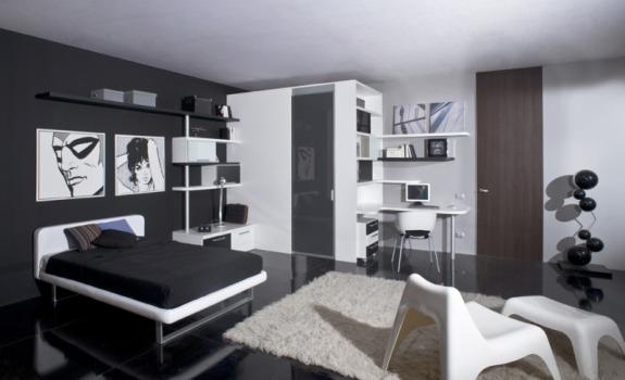 Embora seja neutra, a decoração com preto e branco pode adquirir