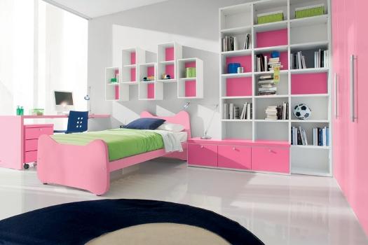 Decoração de quarto colorido para jovens fotos  ~ Quarto Rosa Choque