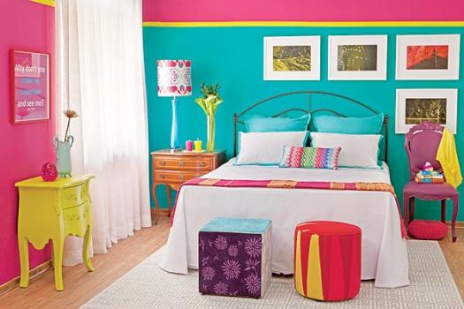 Quarto colorido para meninas fotos - Como decorar un piso sin gastar mucho ...
