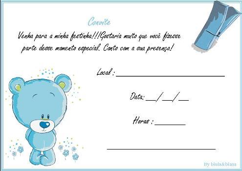 510697 Convites de festa de aniversário infantil para imprimir 2 Convites de festa de aniversário infantil para imprimir