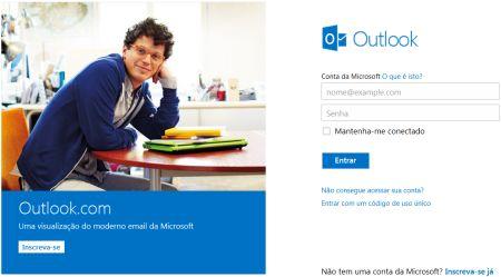 Como acessar o Outlook.com pelo celular