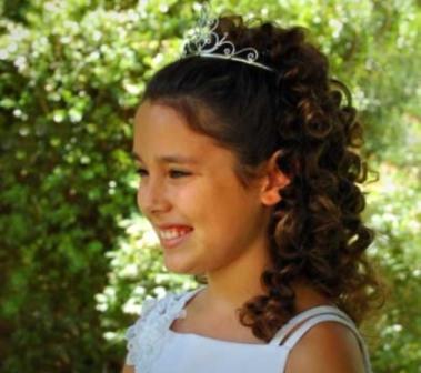 Penteados para cabelos cacheados infantil com tiara