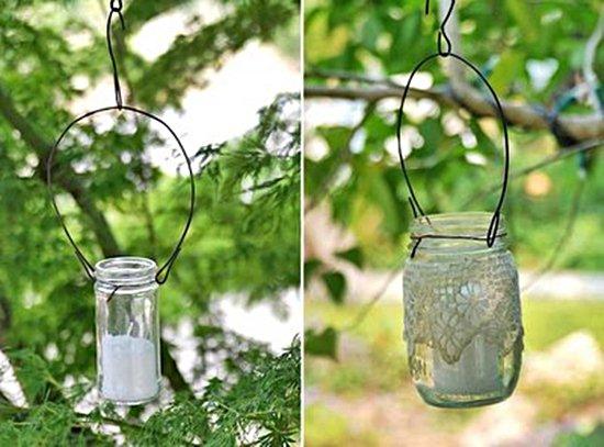 Luminárias de vidro e velas(Foto Divulgação)
