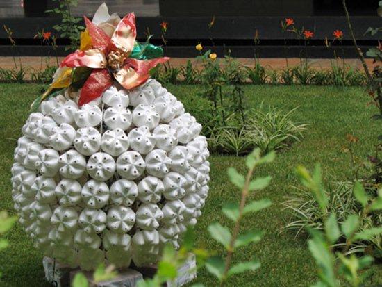 decoracao para jardim natal : Decora??o de jardim para natal: fotos, dicas