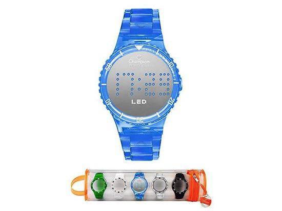 3d918b31d63 yH5BAEAAAAALAAAAAABAAEAAAIBRAA7. Relógio de pulso Champion LED Troca-  Pulseiras ...