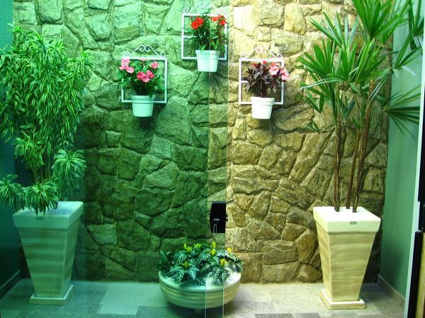Jardim de inverno 50 fotos incr veis para fazer em casa - Placas para decorar paredes ...