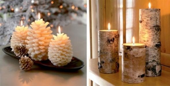 Resultado de imagem para decoração de casamento no Natal com velas