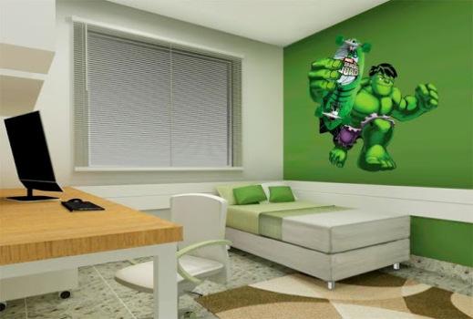 Quarto com decoração de super heróis dicas, fotos ~ Papel De Parede Para Quarto Do Hulk