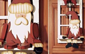 Enfeites natalinos criativos para a porta: fotos