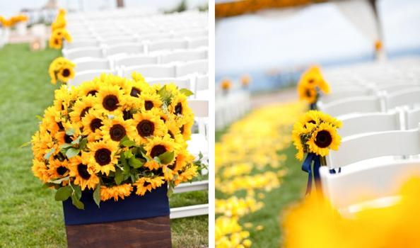 decoracao casamento girassol:Girassol combina com a decoração de casamento ao ar livre. (Foto