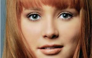 Franja para rosto redondo: fotos