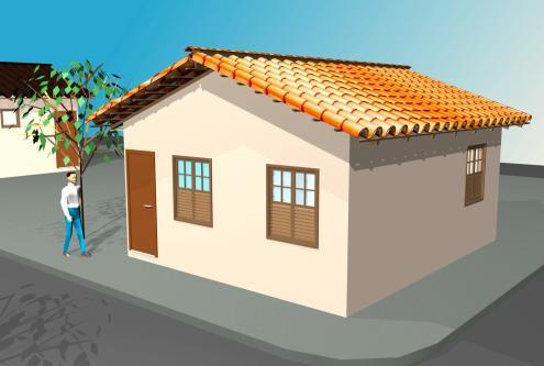 Plantas de casas pequenas, modelos