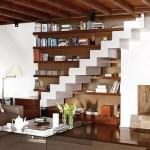 554543 Escadas sem corrimão são sofisticadas porém perigosas. 150x150 Decorar sala pequena com escada