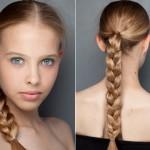 555504 Tranças altas são boas alternativas. 150x150 Penteados para ir à escola: dicas